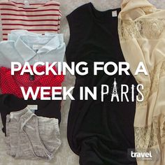 Pack the Perfect Outfits for a Week in Paris! – Travel and Tourism Trends 2019 Paris Outfits, Summer Outfits, Cute Outfits, Fashion Outfits, Paris Packing, Travel Packing, Travel Wear, Packing Tips, Travel Hacks