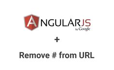 AngularJS builds URL with hashtag by default. To remove hashtag(#) from URL, use $locationProvider and set html5Mode to true.