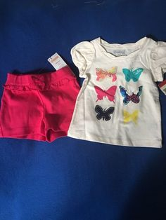 NWT Gymboree And Osh Kosh 12 Months Girl's Butterfly Outfit Set  #Gymboree