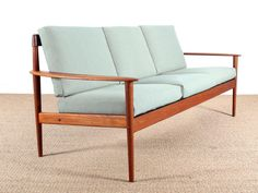 PJ56/3 Danish 3-Seater Sofa by Grete Jalk for Poul Jeppesen 9