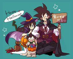 happy halloween son family dragon ball z