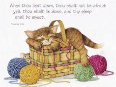 When thou Liest Down - Bible Quote