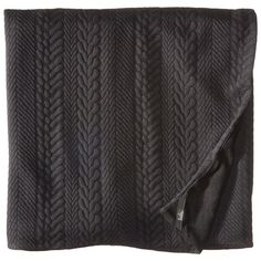 Prana Macee Blanket (Black) Blankets ($70) ❤ liked on Polyvore featuring home, bed & bath, bedding, blankets, textured bedding, black blanket, jacquard blanket, jacquard bedding and textured blanket
