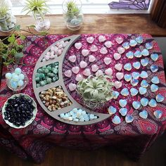 Everything shown here is available, tap this photo for easy shopping 💜! Beautiful moon shelf is from my friend 🌙. Minerals And Gemstones, Crystals Minerals, Rocks And Minerals, Stones And Crystals, Crystal Magic, Crystal Healing, Crystal Aesthetic, Art Of Beauty, Witch Fashion