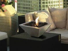 The Grommet team discovers the Anywhere Fireplace; a contemporary stainless steel wall mount fireplace or fireplace pit that goes anywhere. Burns bio-ethanol fuel.
