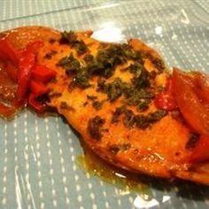 Poisson au four à la marocaine @ http://allrecipes.fr