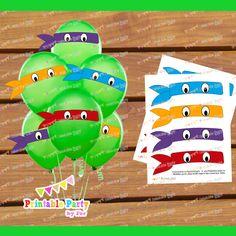 Ninja Turtle Birthday Party Ideas | ... ninja turtles mask eyes birthday party decoration supplies balloon