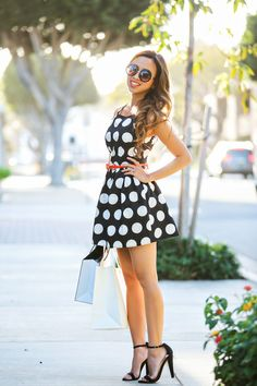 Dress – Size 2 H&M  Belt – Old Club Monaco  Shoes – Old ASOS  Handbag – Chanel Sunglasses – Topshop c/o Nordstrom