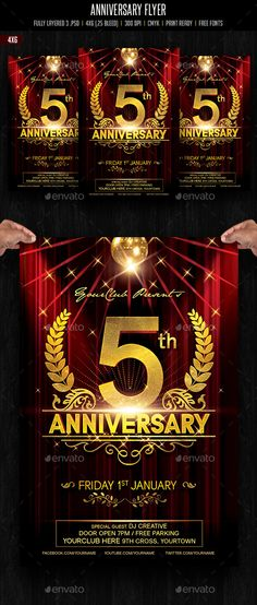 Anniversary / Event / Birthday Celebration Flyer — Photoshop PSD #birthday #vintage anniversary card • Available here → https://graphicriver.net/item/anniversary-event-birthday-celebration-flyer/12808881?ref=pxcr