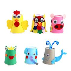 Çocuk gelişimi paper cup crafts, animal crafts for kids ve animal Kids Crafts, Animal Crafts For Kids, Summer Crafts, Crafts For Kids To Make, Easy Crafts, Art For Kids, Diy And Crafts, Arts And Crafts, Paper Cup Crafts