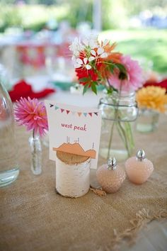 Ideas for Table Names and Numbers , Wedding Reception Photos by daisies & pearls   MERRYMAKING