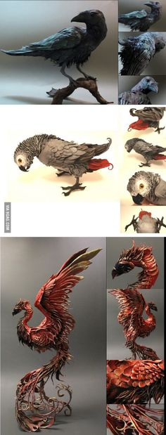 Drawings Awesome clay sculpture More - More memes, funny videos and pics on Bird Sculpture, Animal Sculptures, Clay Sculptures, Clay Animals, Ceramic Animals, 3d Drawings, Clay Creations, Bird Art, Clay Art