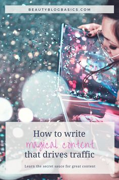 Writing tips to how to write magical blog posts that your audience loves. The step by step guide to the secret sauce that keeps your readers hooked on your content and coming back to your site. Come to get writing inspiration! -> #bloggingtips #blogging #writingtips