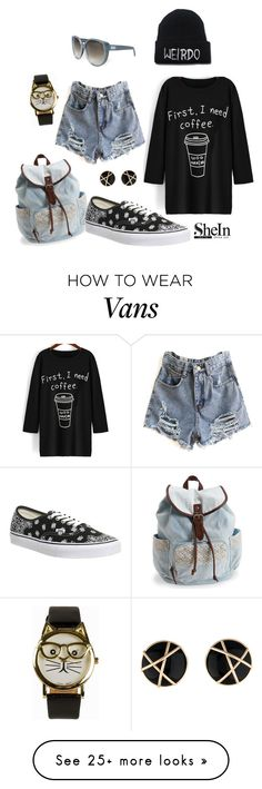 """First I need a coffee"" by zana-k on Polyvore featuring JFR, Chloé, Aéropostale, Vans, women's clothing, women's fashion, women, female, woman and misses"