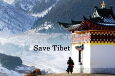 Save Tibet. Image spread by www.compassionateessentials.com and http://stores.ebay.com/fairtrademarketplace/