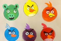 Exploring Art: Elementary Art: 1st Grade Angry Bird Color Wheel
