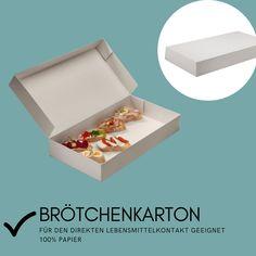 aus 100% Papier, für den direkten Lebensmittelkontakt geeignet. Decorative Boxes, Paper, Foods, Decorative Storage Boxes
