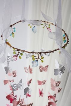 Fairy, gypsy, butterfly baby mobile, butterflies, baby nursery, crib mobile, nursery mobile, boho, home decor, baby shower gift