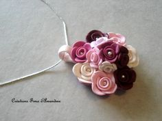 fimo - floral pendant - how cute!