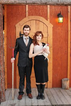 Pete & I need to do this...perhaps with something other than a chicken!!!  So funny.  Real Weddings: Rhys & Melissa's Vintage Bohemian Wedding