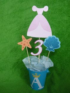 Ariel princess centerpiece by lillovebugcreations on Etsy, $15.00