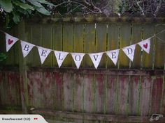 Hessian Bunting Flags - Beloved   Trade Me