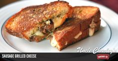 Is anything better than a grilled cheese sandwich? We think so...a grilled cheese with sausage! This recipe demands to be dunked in steamy tomato soup.