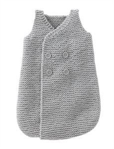 Babies Knitting Patterns Sleepsack for Boy Pattern