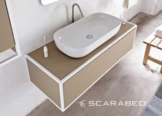 From mini to maxi washbasin: GLAM by Scarabeo Ceramiche