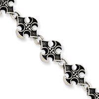 Sterling Silver Cross Bracelet - 8.25 Inch - Toggle - JewelryWeb JewelryWeb. $177.00. Save 50%!
