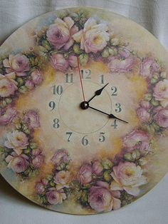 Декупаж, роспись, шаблон часов