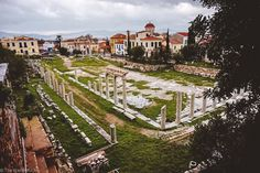 Located between Monastiraki and the Acropolis, the Roman Agora is a large green area containing the Tower of the Winds and other various pieces of ancient artifacts.