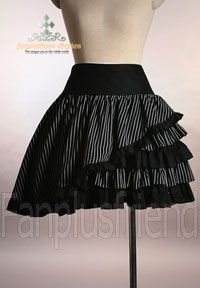 pinstripe skirt short stripes egl lolita fanplusfriend goth gothic alternative