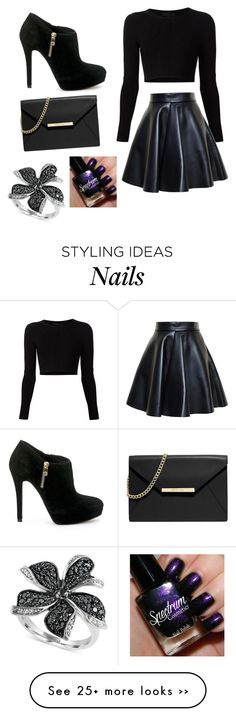 """Go black"" by aniyahg on Polyvore featuring Cushnie Et Ochs, MSGM, MICHAEL Michael Kors and Effy Jewelry"