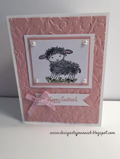 Easter Lamb by Stampin' Up.  www.designsbyjoannieb.blogspot.com