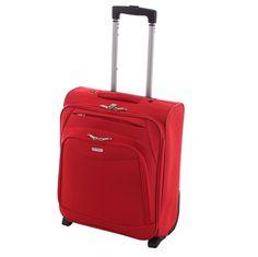 Rollkoffer/Reisetrolley - Elegantes Design - Leichtes Gewicht - Auch als Handgepäck möglich - Rot