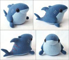 Great shaping, adorable plush. Blue Tiger Sharkling by melkatsa.deviantart.com on @deviantART