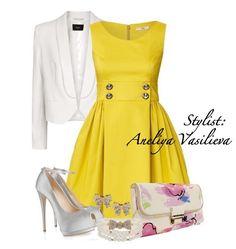 16 mejores imágenes de Vestido Amarillo  c4c3aa712f35