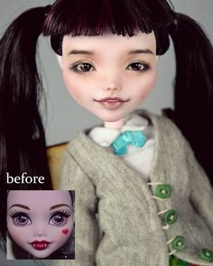 OOAK Reboot 2016 Draculaura schoolgirl by Madam Bu. For sale. Новая Дракулаура 2016 OOAK в наряде от CharlieRioko. В продаже . #monsterhigh #reboot2016 #schoolgirl #draculaura #faceup #madambu