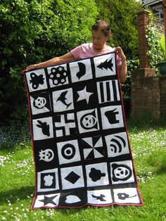 Black and white baby blanket - completely our design :o)