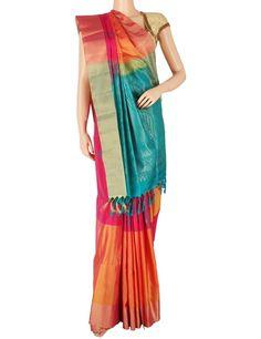 G3 exclusive orange magenta silk saree Product Code: G3-WSA5875 Price: ₹ 9,810.00