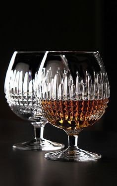 Waterford Lismore Diamond Brandy, Pair - bought these in Ireland!
