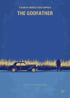The Digital Art - No686-1 My Godfather I Minimal Movie Poster by Chungkong Art
