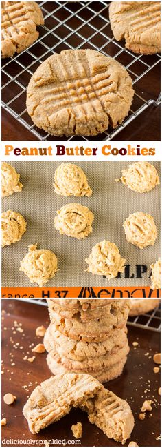 The BEST Peanut Butter Cookie Recipe and they're super EASY to make! #desserts #cookies #recipe #peanutbutter