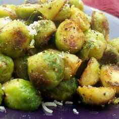 Brussels Sprouts in Garlic Butter @keyingredient #cheese