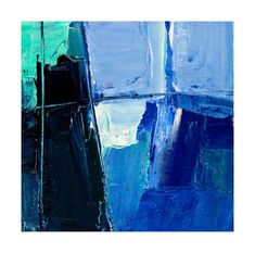 Abstract oil painting Titled 'Madison' blue and by VictoriaKloch