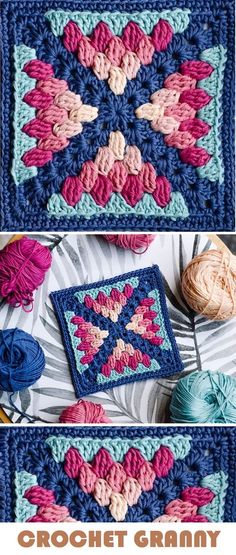 Most current Pics granny square ideas Concepts Crochet: Farmhouse Granny Blanket – Handmade paris Motifs Granny Square, Granny Square Crochet Pattern, Crochet Stitches Patterns, Crochet Squares, Crochet Designs, Knitting Patterns, Granny Square Blanket, Afghan Patterns, Granny Square Projects