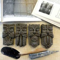 Gargoyle Magnets and Plaques by Maggie Betley Zoo Ceramics
