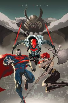 The Dark Trinity - Red Ronin by Dexter Soy : DCcomics Comic Book Characters, Marvel Characters, Comic Character, Comic Books Art, Anime Comics, Dc Comics Art, Batman Comic Art, Marvel Dc Comics, Dexter