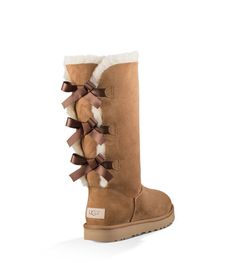 Ugg ® bailey bow tall ii suede water resistant boots uggs with bows, bow bo Ugg Bailey, Bailey Bow, Botas Dr Martens, Doc Martens Boots, Ugg Style Boots, Bow Boots, Sheepskin Boots, Shearling Boots, Clothes